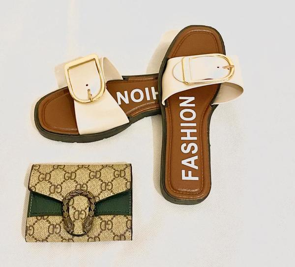 Used New Sandals+Wallet- Combo Offer in Dubai, UAE